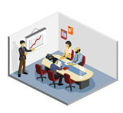 Presentation Isometric Royalty Free Stock Photo