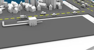 Presentation isometric of city plan