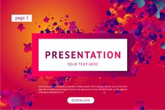 Presentation and landing page vector poster template. Abstract minimal background with smooth shape. Futuristic 3d form vector illustration