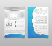 Presentation layout design template. Annual report cover page. B royalty free illustration
