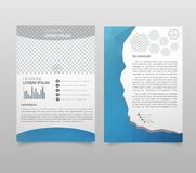 Presentation layout design template. Annual report cover page. B vector illustration