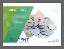 Presentation layout design template for business or finance and investing. Cover pages are great for brochure, annual report, flyer - leaflet, magazine, poster Royalty Free Stock Images