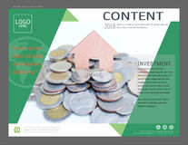 Presentation layout design template for business or finance and investing. Cover pages are great for brochure, annual report, flyer - leaflet, magazine, poster Stock Image