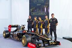 Presentation of the Lotus Renault E20, 2012 Stock Photos