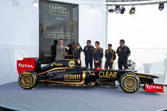 Presentation of the Lotus Renault E20, 2012 Royalty Free Stock Photo