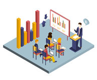 Presentation or Meeting Isometric Vector Royalty Free Stock Photos