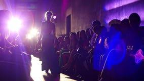 Presentation of the new fashion show of evening dresses. Kherson, Ukraine - 9 September 2016: Secret Luxury Night in Fabrika Mall Presentation of the new fashion