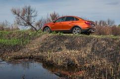 Presentation of the new LADA Vesta cross sedan. stock images