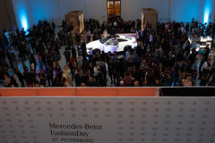 Presentation of new Mercedes Benz E-class coupe Stock Image