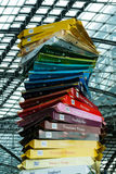 Presentation of the new varieties of chocolate famous company Ritter Sport. Stock Photo