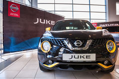 Presentation Nissan Juke at the office of official dealer Nissan Stock Photo