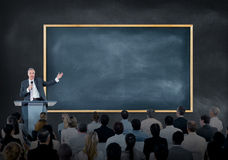 Free Presentation Of A Speaker To A Large Group Of Business People Royalty Free Stock Photos - 41756018