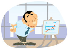 Presentation in the office. Office clerk are doing a presentation Royalty Free Illustration