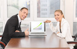 Presentation in office Royalty Free Stock Images