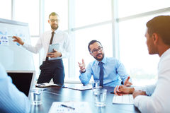 Presentation in office Royalty Free Stock Image