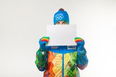 Presentation of the official uniforms Sochi 2014 Stock Image