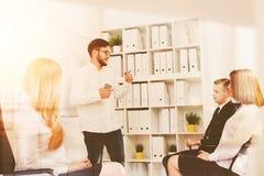 Presentation på det moderna kontoret arkivfoto