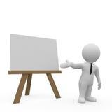 Presentation på whiteboard Arkivbilder