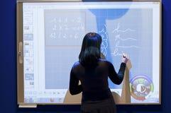 Presentation of a professional e-screen Stock Photos