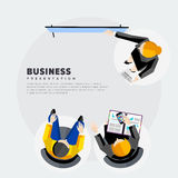 Presentation of the project to investors. Flat vector illustration royalty free illustration