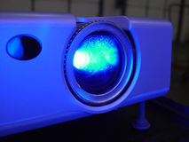 Presentation Projector. Business Blue Projector stock photos