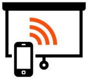 Presentation remote control icon Royalty Free Stock Image