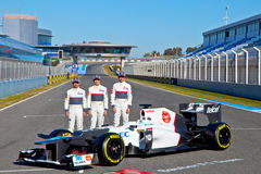 Presentation of the Sauber C-31, 2012 Royalty Free Stock Image