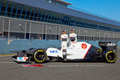 Presentation of the Sauber C-31, 2012 Royalty Free Stock Photography