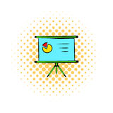 Presentation screen icon, comics style Royalty Free Stock Images