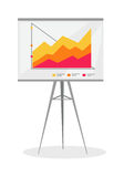 Presentation Screen with Stock Lines . Royalty Free Stock Images