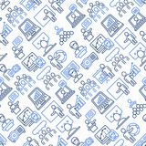 Presentation seamless pattern with thin line icons royalty free illustration
