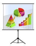 Presentation set of graphs Stock Photo