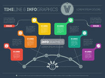 Presentation slide template or business infographic. Modern vect Royalty Free Stock Images