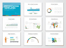 Presentation slide templates and business vector brochures Royalty Free Stock Image
