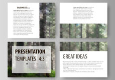 Presentation slide templates. Easy editable abstract vector layouts in flat design.  Stock Images