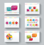 Presentation slide templates for your business with infographics Royalty Free Stock Photo