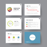 Presentation slides with infographic elements Royalty Free Stock Photo