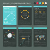 Presentation slides with infographic elements Royalty Free Stock Photography