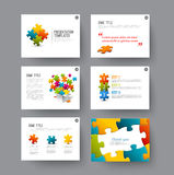 Presentation slides with infographic elements Stock Image