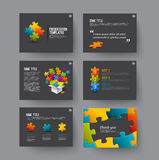 Presentation slides with infographic elements Stock Photography