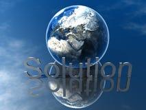 Presentation Solution. 3D Logo Presentation Graphic, Solution Stock Photos