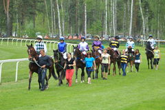 Presentation before steeplechase in Lysa nad Labem Royalty Free Stock Photo