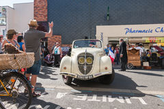 Presentation in the street of old vintage cars Stock Images
