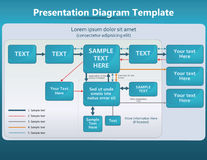 Presentation template Royalty Free Stock Photo