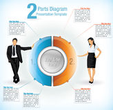 Presentation Template With Business Men And Women Stock Photography