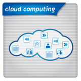 Presentation template - cloud computing Stock Images
