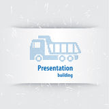 Presentation template. For the construction business Royalty Free Stock Photos