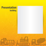 Presentation template. For the construction business Royalty Free Stock Photography