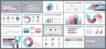 Presentation Template design with infographic. Presentation Template design. Business data graphs. Vector financial and marketing charts Royalty Free Stock Image