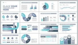 Presentation Template design with infographic. Presentation Template design. Business data graphs. Vector financial and marketing charts Stock Photo